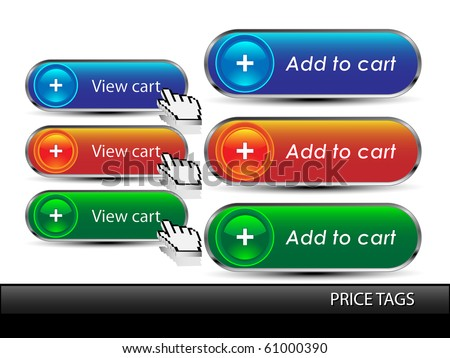 Add to cart button.Vector - stock vector