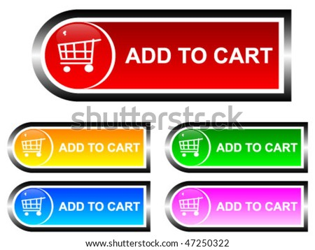 add to cart buttons - stock vector
