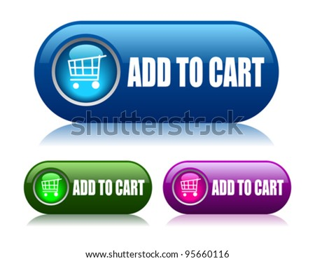 Add to cart vector buttons - stock vector