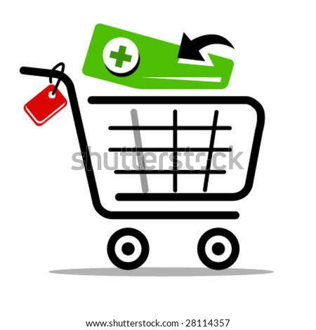 add to cart vector web icon - stock vector