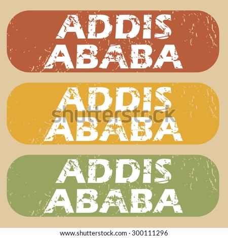Addis Ababa on colored background - stock vector