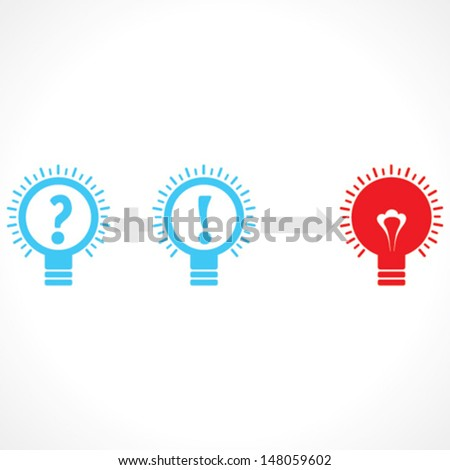 addition of thinking and confusion create new idea - vector illustration
