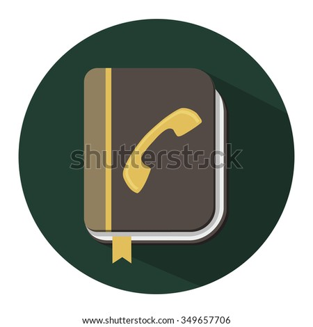 address book icon - stock vector
