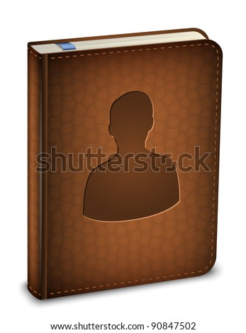 Address book icon. Vector - stock vector