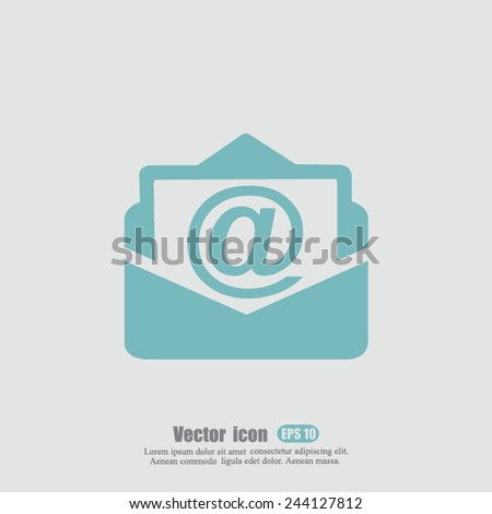 address vector icon - stock vector