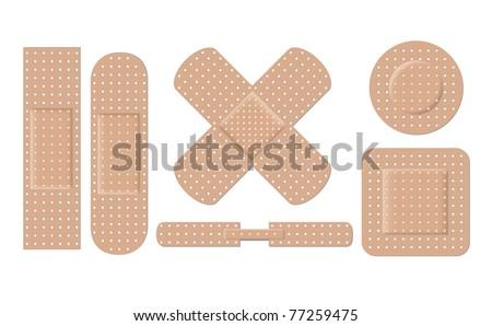 Adhesive bandage set eps8 - stock vector