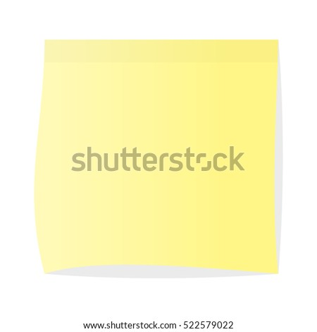 Adhesive sticker with pin, clip and scotch isolated on white
