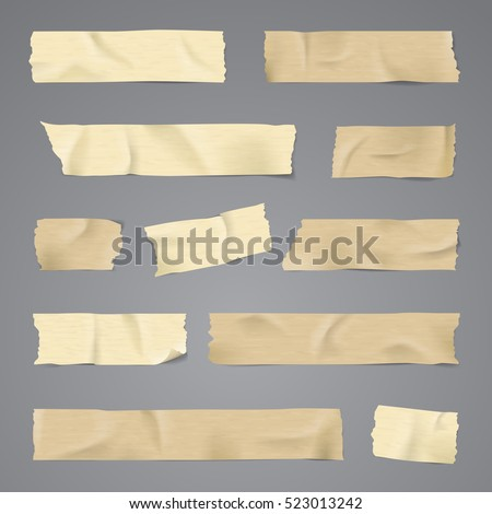Adhesive tape with shadow isolated realistic vector illustration