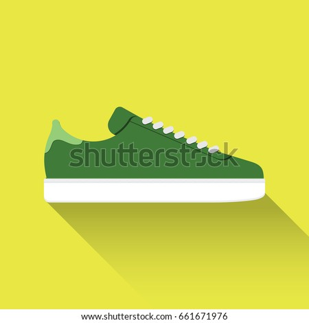 Adidas gazzette vector drawn sport shoes, sneakers for summer. Vector stock  illustration. Sport
