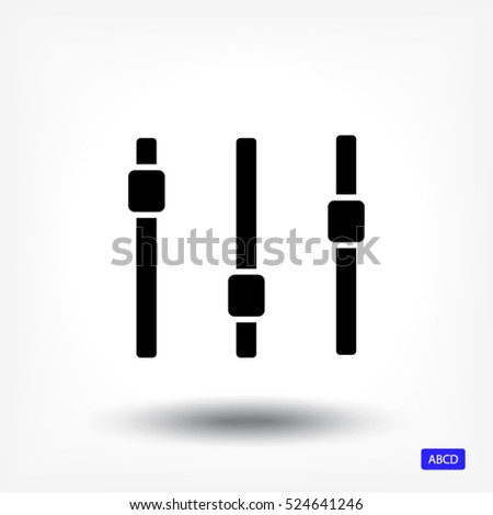 adjustment music line vector icon