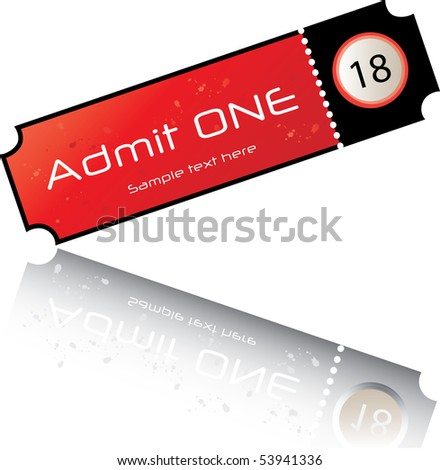 admission ticket - stock vector
