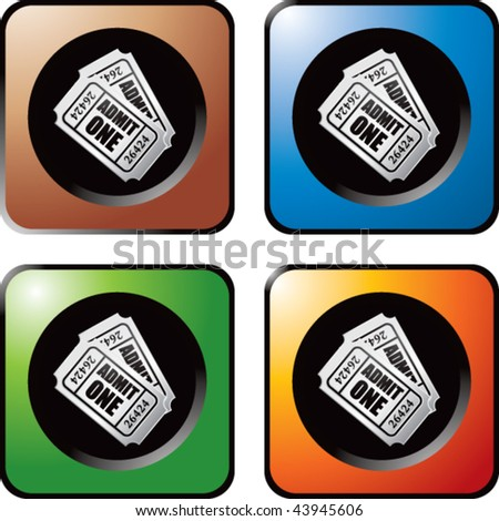 admission tickets colored web buttons