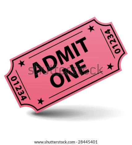 Admit one ticket vector - stock vector