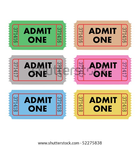 Admit One Tickets - stock vector