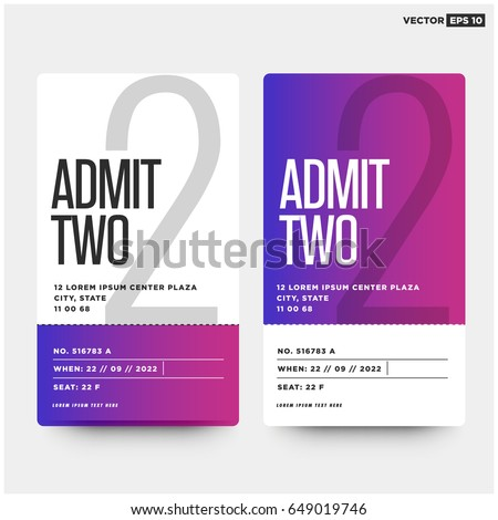 Event Ticket Template Vectors Images Vector Art – Party Ticket Template