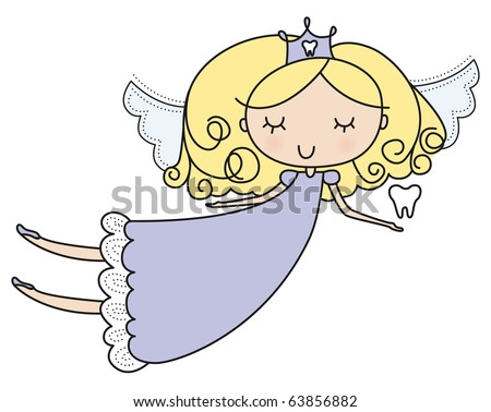 Adorable Blond Tooth Fairy -  It's easy to change her hair & dress color.