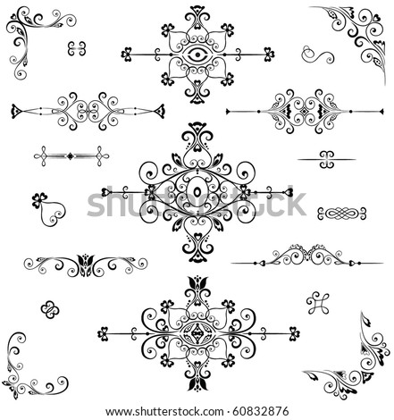 Adornment - stock vector