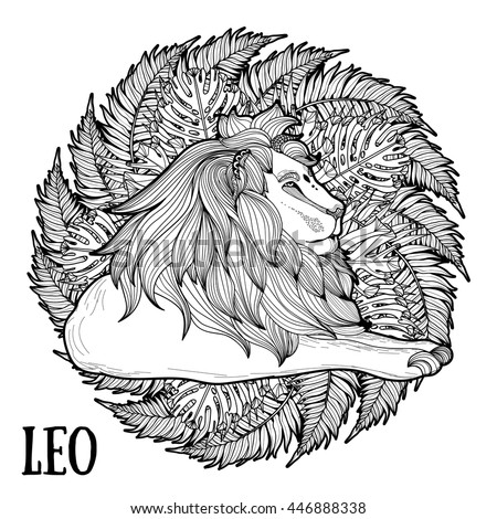 color therapy coloring pages lion king | Adult Coloring Page Antistress Art Therapy Stock Vector ...
