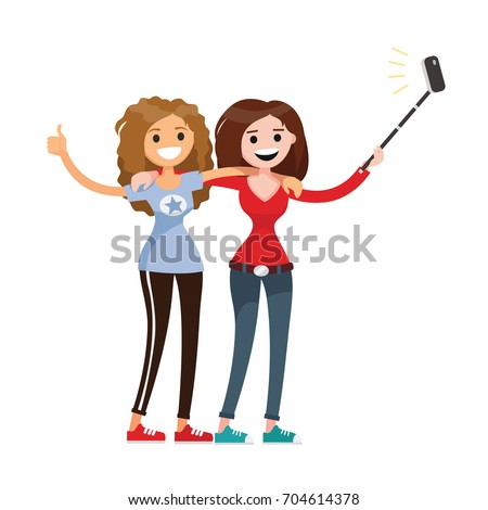 Adult Women Two Best Friends Stock Vector HD (Royalty Free ...