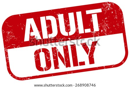 adult only stamp - stock vector