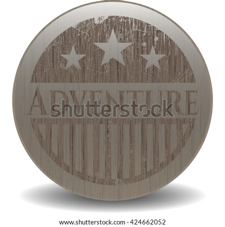 Adventure retro wood emblem
