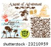 Adventure, texture and graphic - stock vector