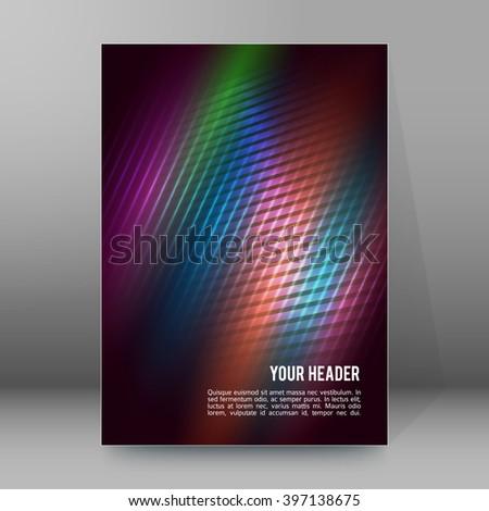 Advertisement Flyer Design Elements Modern Style Website Banners Background Page Vector Illustration EPS