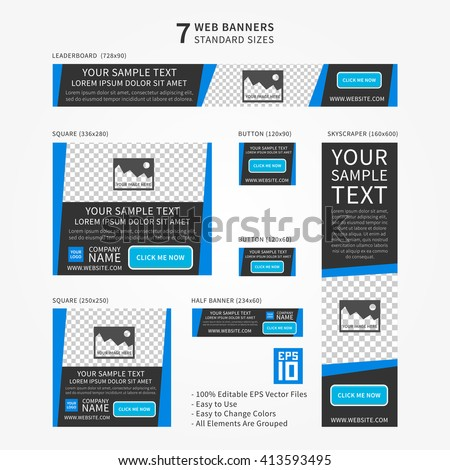 advertising ad web banner vector template stock vector royalty free