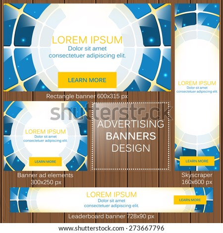 Advertising banners in different sizes for your web/vector illustration, editable vector design - stock vector