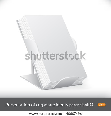 Advertising board for presentation of promotional materials: flyers, brochures, letterheads - stock vector