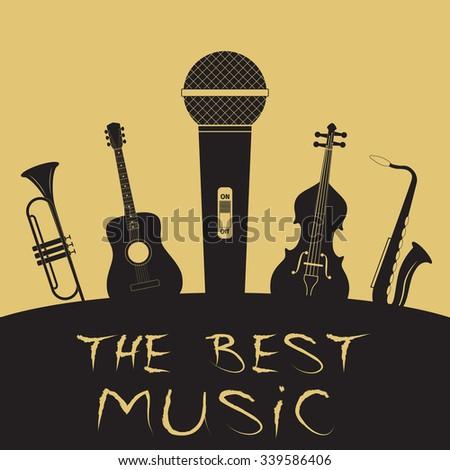 Advertising card for music festival, vector illustration - stock vector