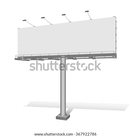Advertising construction for outdoor advertising big billboard. Billboard for your design. - stock vector