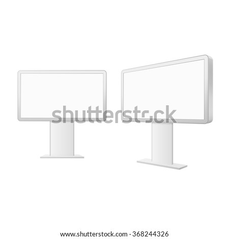Advertising construction for outdoor advertising middle billboard. Billboard for your design. - stock vector
