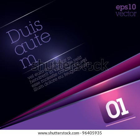 Advertising Design Template - Suitable for brochure design or website. Fully editable EPS 10 - stock vector