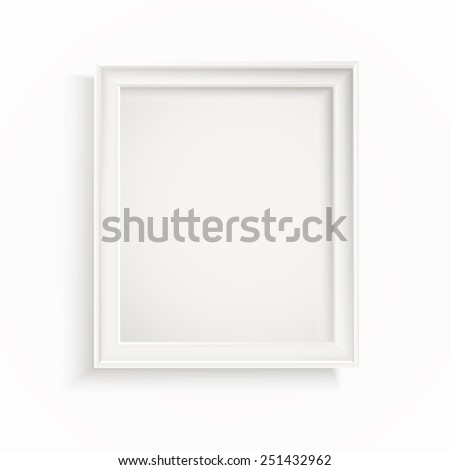 Advertising frame board. Place your text - stock vector