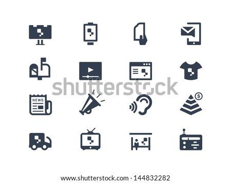 Advertising icons - stock vector