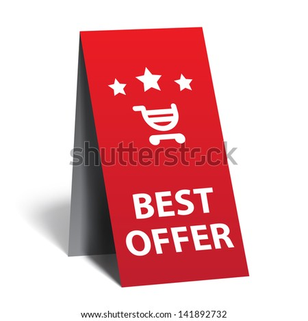 Advertising Index - best offer - stock vector