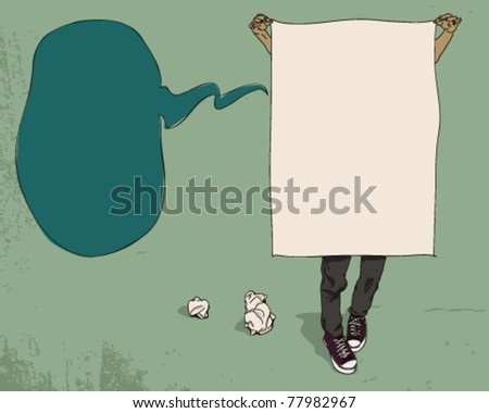 Advertising man. - stock vector