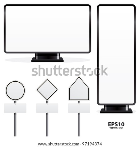 advertising sign vector - stock vector