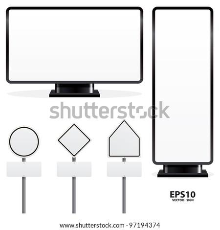 advertising sign vector - stock vector