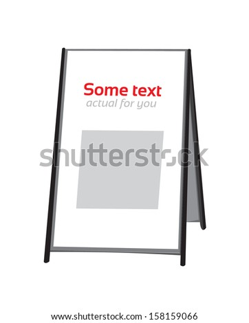 Advertising stand - stock vector