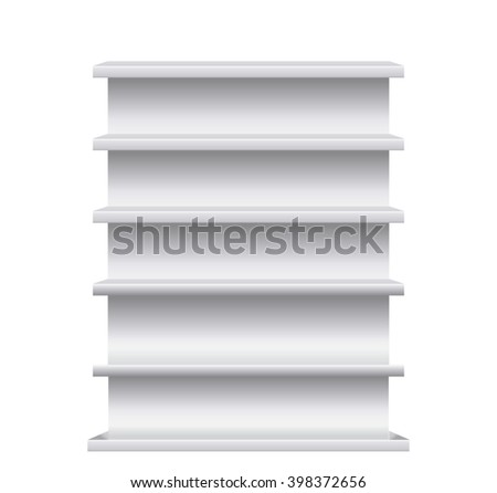 Advertising stand isolated on  white background