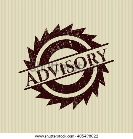Advisory rubber grunge stamp - stock vector
