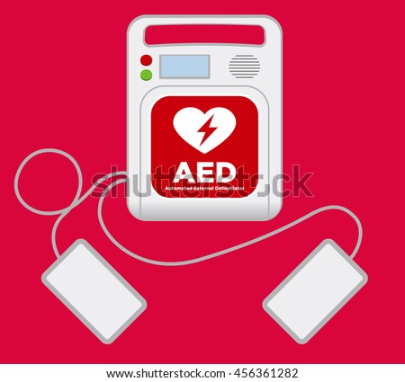 Aed Automated External Defibrillator Main Machine Electrode Stock