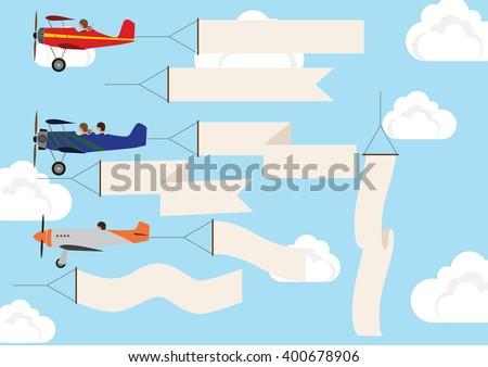 Aerial Advertising - stock vector