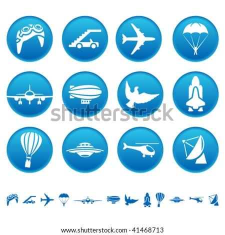 Aero icons - stock vector
