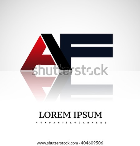 AF company linked letter logo icon red and black - stock vector