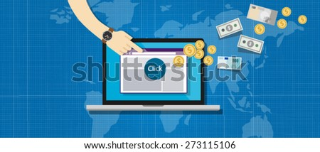 affiliation affiliate marketing pay per click - stock vector