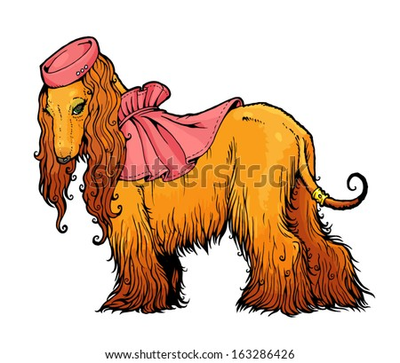Hat and cape from a series of images of funny dogs stock vector