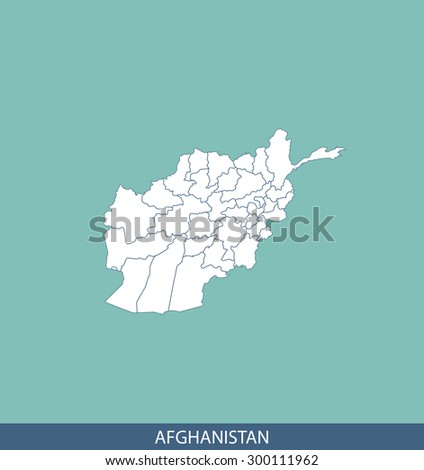 Afghanistan map vector, Afghanistan map outlines for science, brochure, tourist map, and other publication uses - stock vector